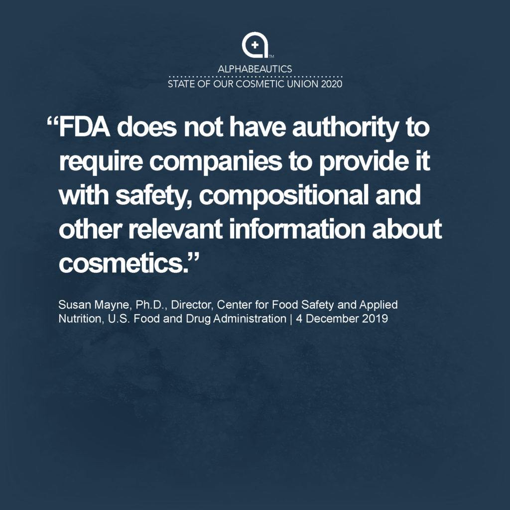 """""""FDA does not have the power to suspend registration or order recalls when products pose the risk of serious adverse health consequences or death."""" - Scott Faber, Senior Vice President, Government Affairs, Environmental Working Group"""