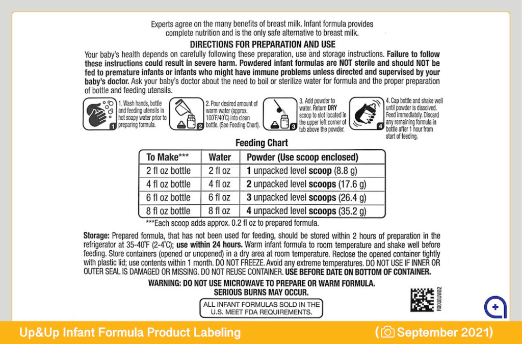 Up-&-Up-Baby-Formula-Target-Product-Label